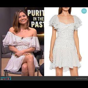 Bardot White Black Polka Dot Cocktail Dress Sz 8/M